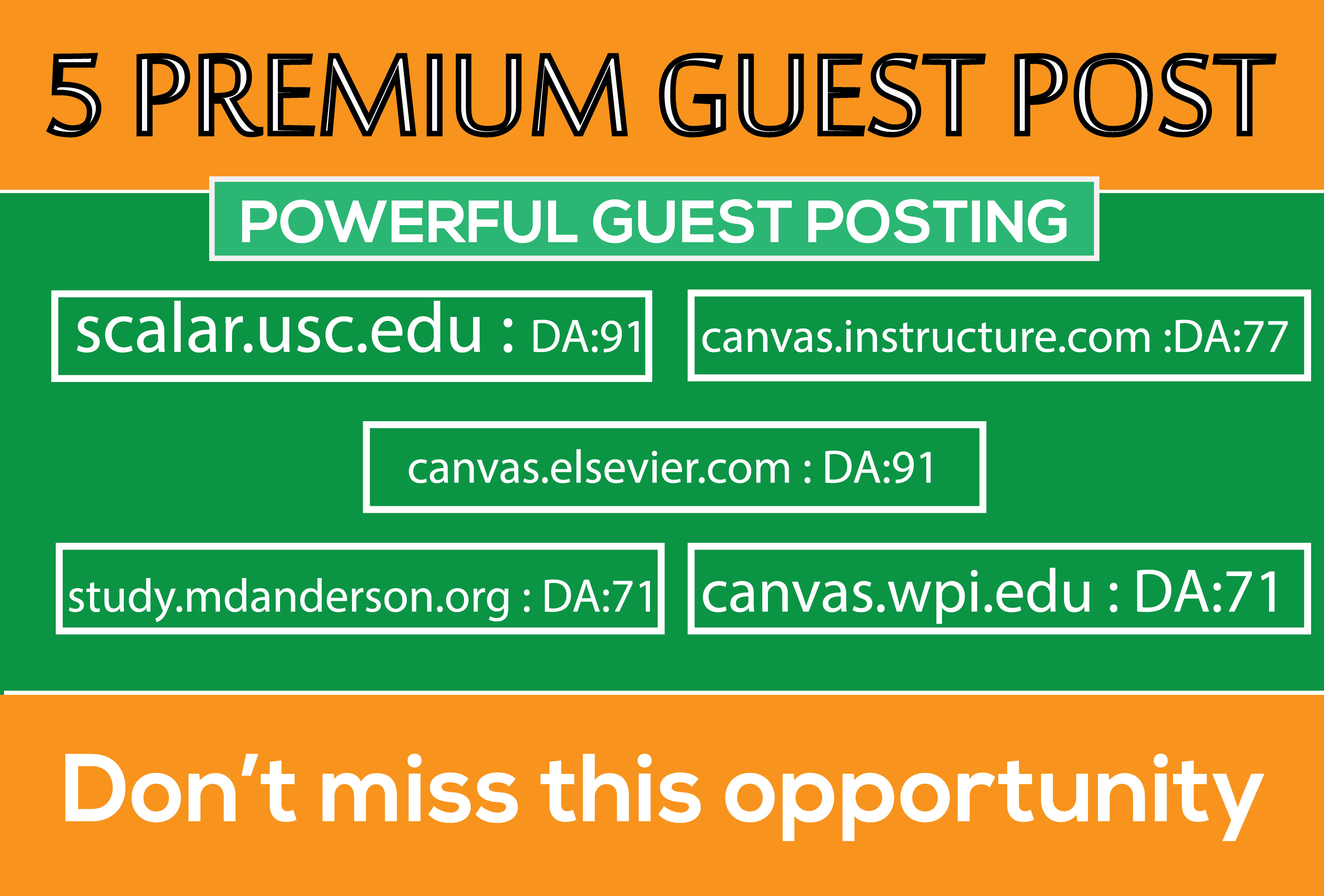 Write and Publish 5 Premium Guest Post DA 70+ to Boost your Web Site Ranking