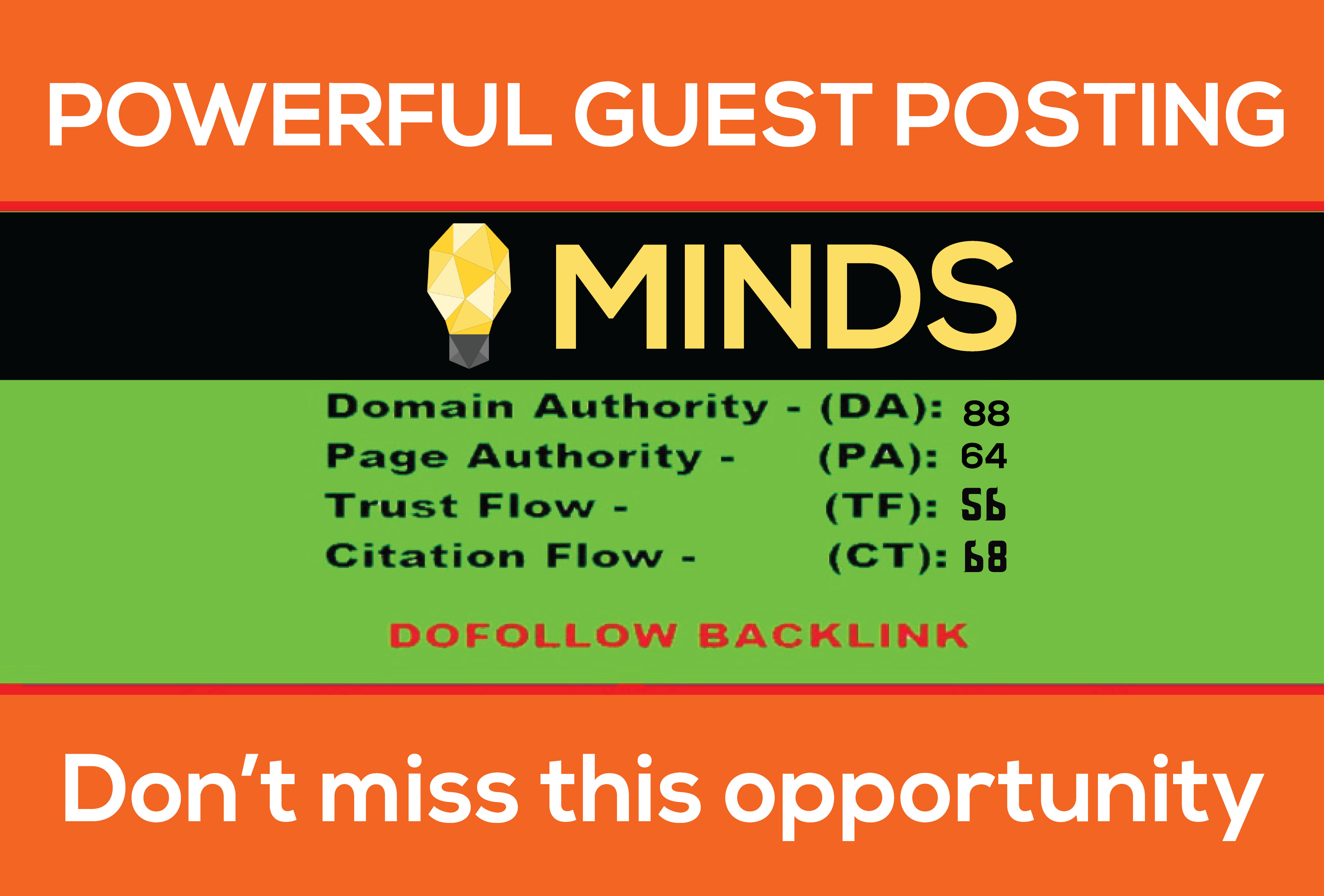 Write and publish guest post on MINDS with permanent Nof0llow backlink DA88 PA64 for
