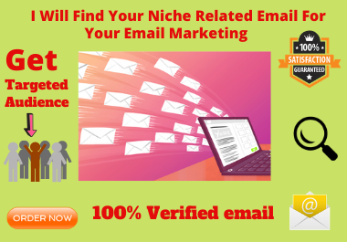 Get you 1000 active niche targeted high quality Email list