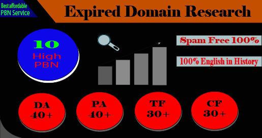 10 expired domain research with high metrics pbn for your niche relevant