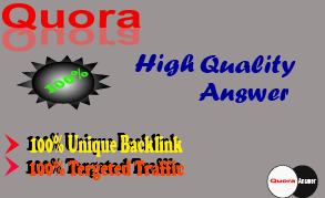 5 high quality Quora answer with your link