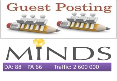 Write & Publish Guest Post on DA88 Minds. com