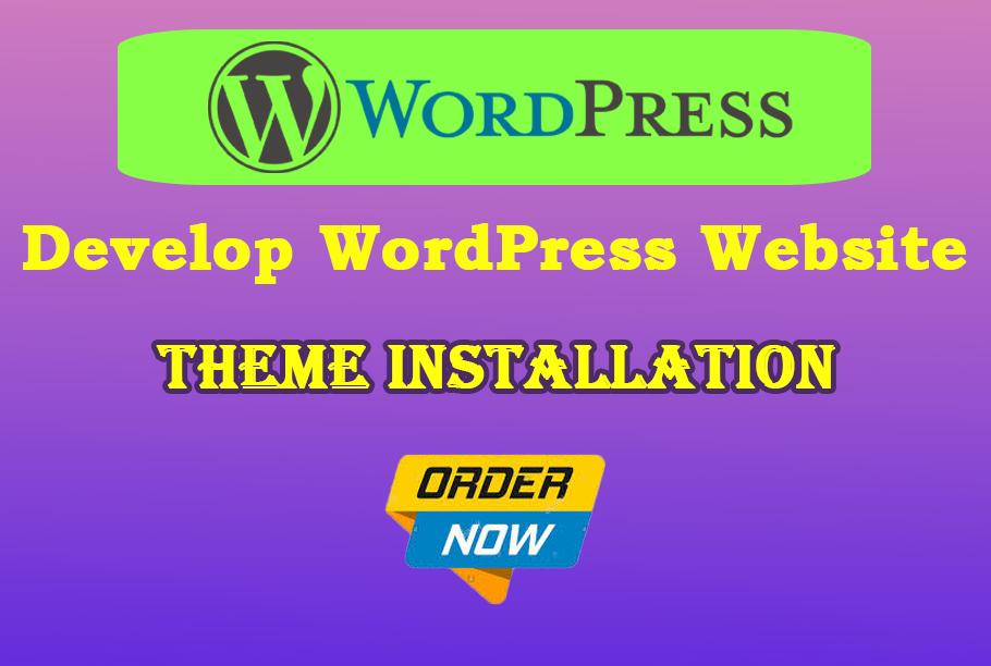 I will install WordPress theme in less price