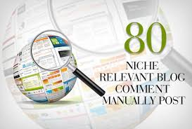 80 niche blogcomments high authority DA PA nich relavent backlinks 100 Manually work