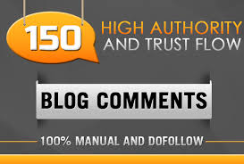 I will 150 blog comment 100 manual and dofollow backlinks