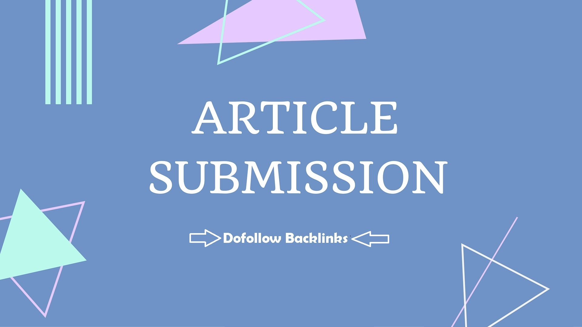i will create 20 article submission