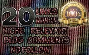 I will create 20 niche relevant blog comments backlinks