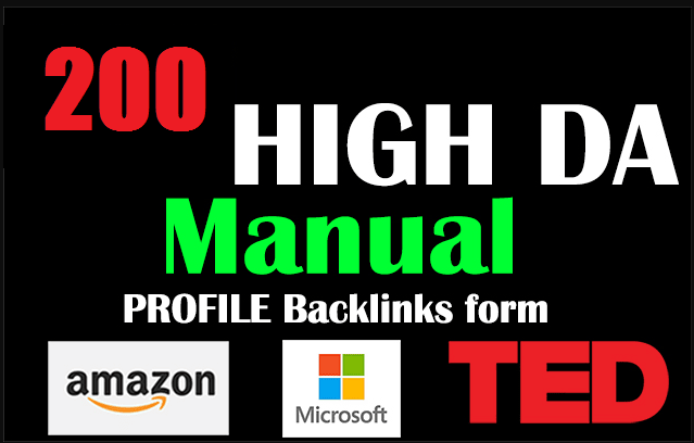 I Will Do Google On Page1 Rank With 200 HQ Profile High DA Backlinks From Amazon, Ted, Adobe, Microsoft