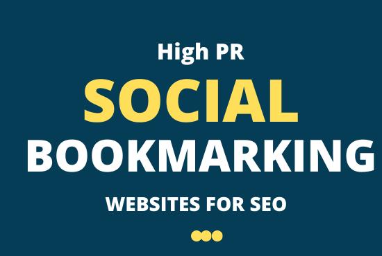 I Will do 20 Social Bookmarking on high PR backlink