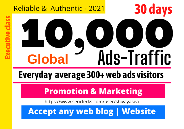 Super-targeted Complete 10k Human Targeted web traffic to your website or blog
