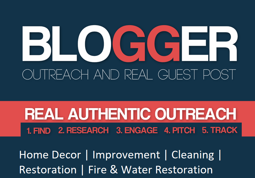 Blogger Outreach Services For Fire & water Restoration Business