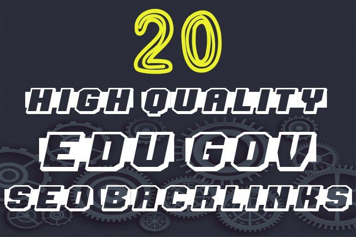 create 20 high trust authority edu and gov SEO backlinks service