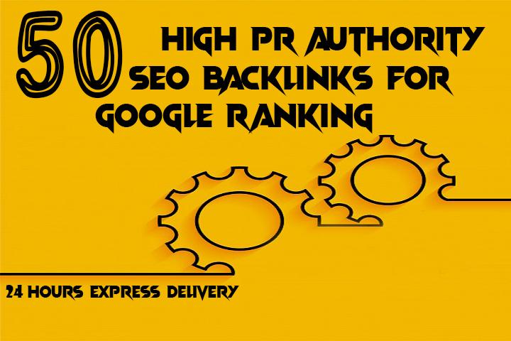 do 50 high PR authority SEO Backlinks for google ranking