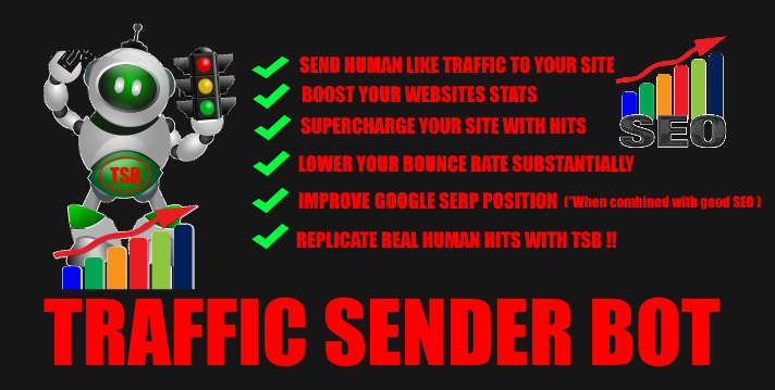 I will give you Traffic Sender Bot lifetime licence for just