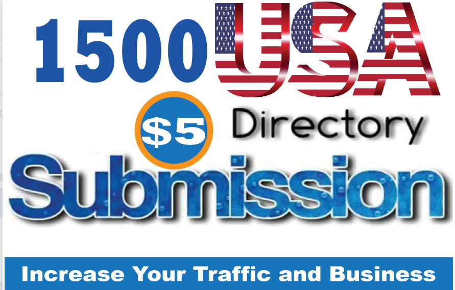 Create 1500 USA Directory Submission Backlinks With DA PA TF CF 100-60