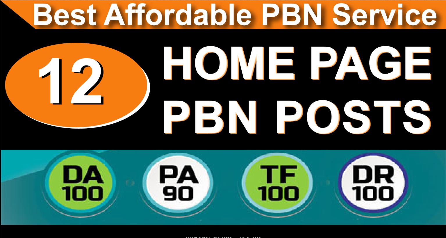 Do Homepage 12 PBN High 20 Plus DA PA CF TF Moz Authority Expired domain Backlinks