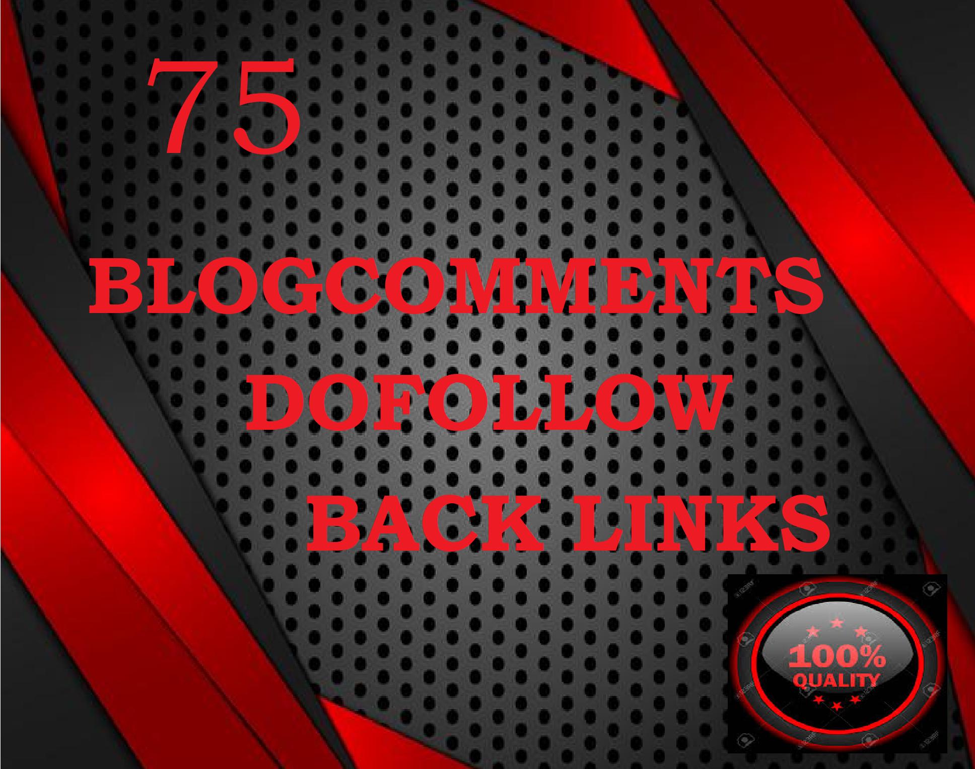 create 75 manual dofollow backlinks with high DAPA blogcomments