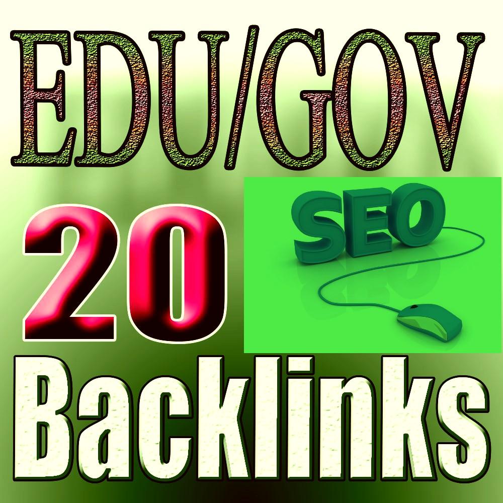 20 EDU GOV Backlinks From Authority Domain