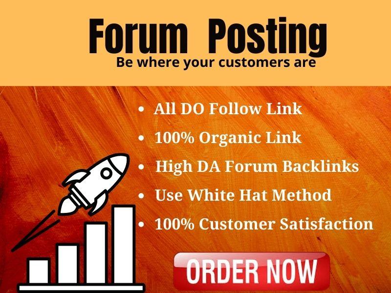 I will do 50 forum comment posting backlinks