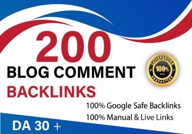 I will do 200 do-follow blog comment DA 30+