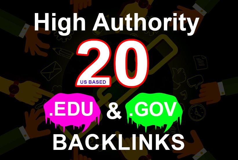 20 Edu/Gov Backlinks and 65 blog comment backlinks