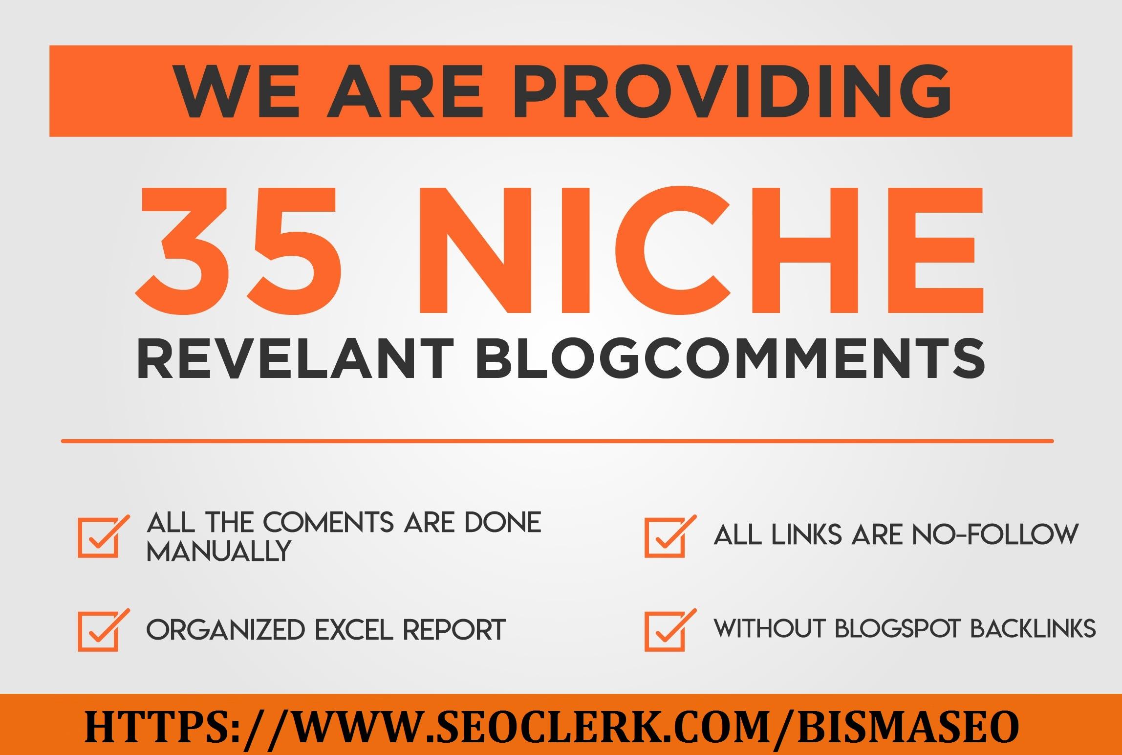 I will Provide 35 niche relevant nofollow backlinks