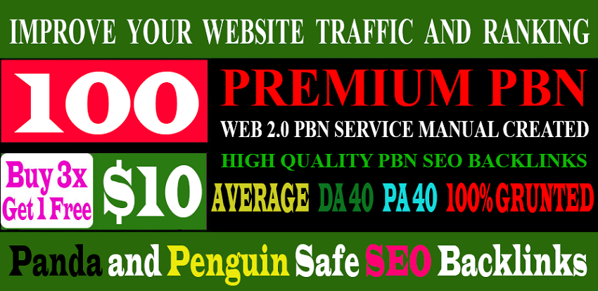 Build 100+parmanent PBN with High DA PA and 100 Dofollow with 100 unique website