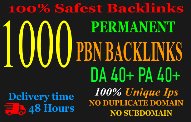 Build 1000+parmanent PBN with High DA 40+ PA 40+ and 100 Dofollow with