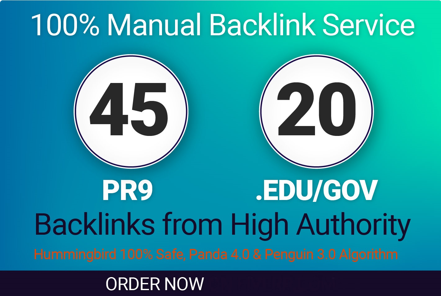 Do 45 PR9 +20 EDU/GOV Safe 90+DA SEO High Authority Unique Domains Backlinks For google ranking