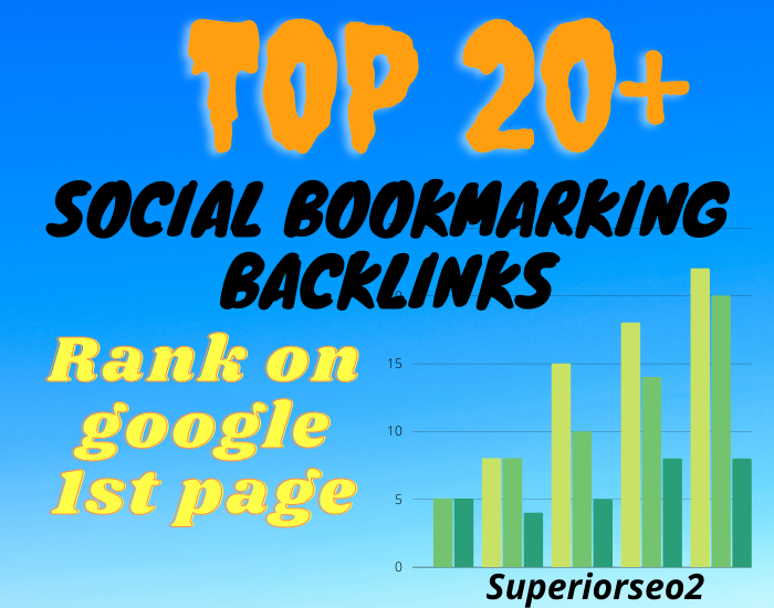Build 20+ Social Bookmark SEO Safe Authority Profile Backlinks