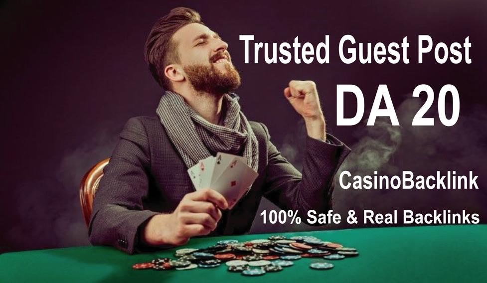 Write and Publish 1 Guest Post On Casino / Gambling Blog DA 20