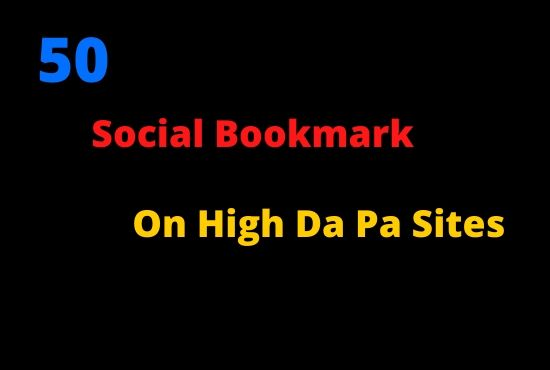 I will do 50 social bookmarks in less time