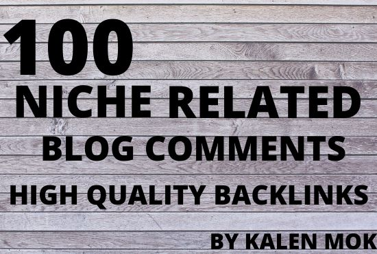 I will do 80 niche relevant blog comment high quality backlinks