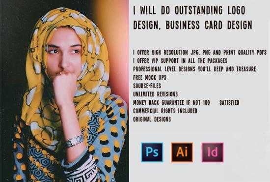 I will do outstanding logo design, business card design