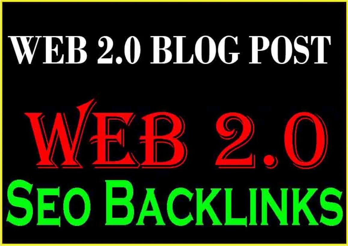 Manual build 20 web 2.0 blogs post use 500+ unique article seo backlinks ranking your website