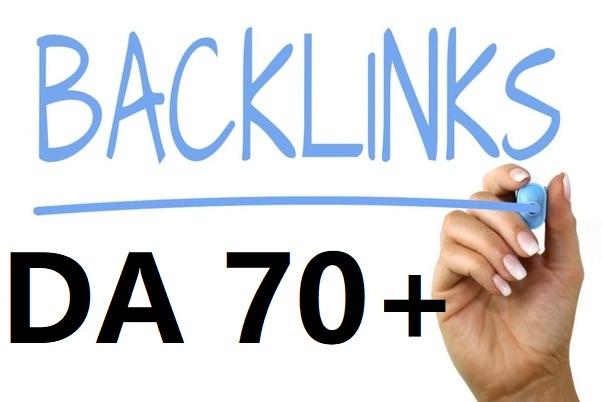 Build 20 powerful high DA 70+ SEO link building backlinks
