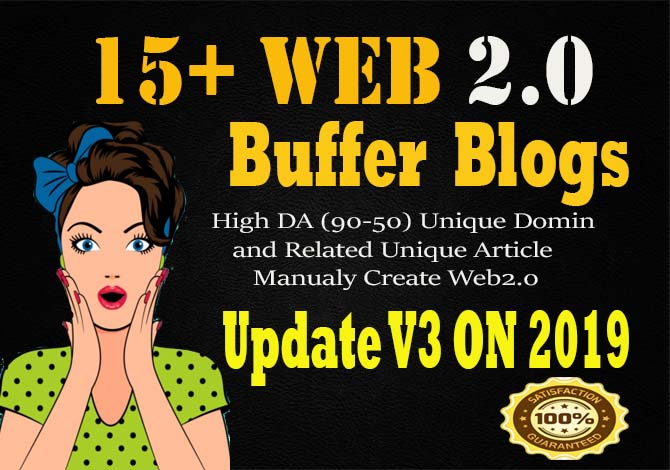 Create 15 Manual web 2.0 Buffer Blog contextual Backlinks with Unique article