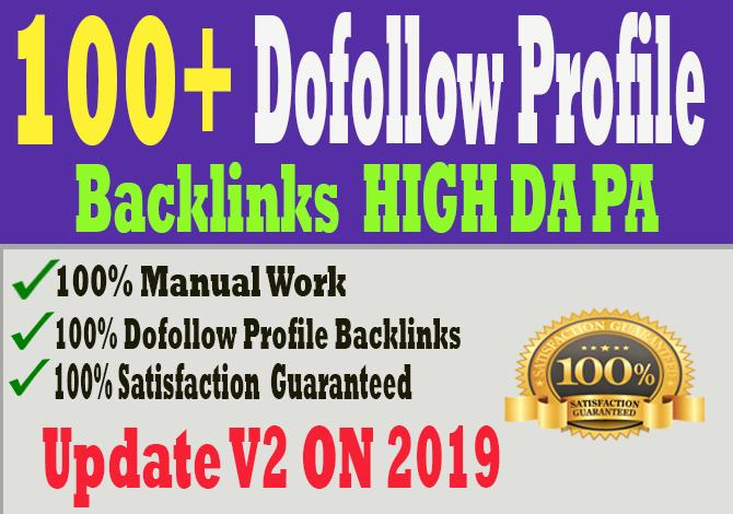 manually create 100 PR9 DA90 high dofollow profile backlinks, link building