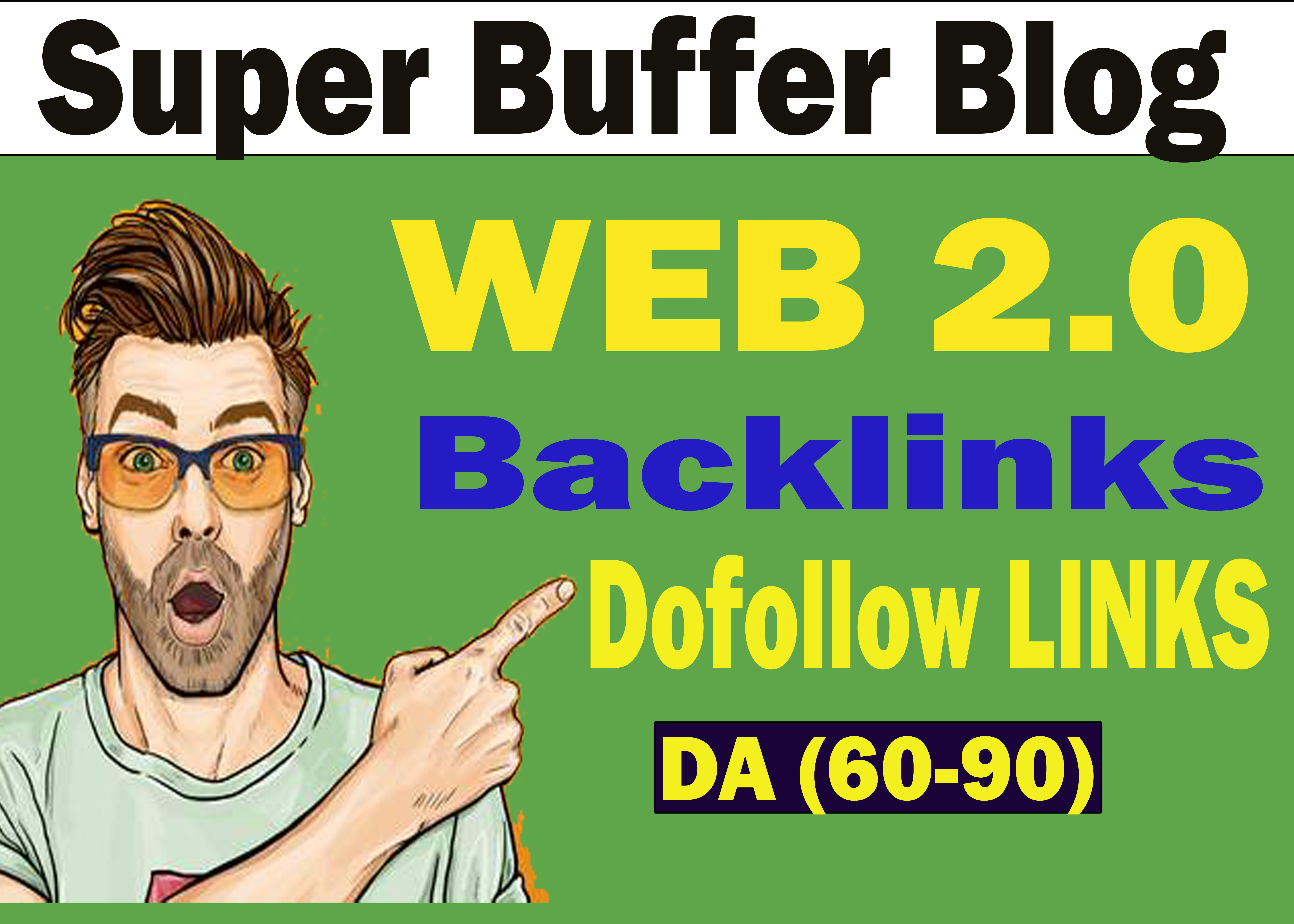Create 30+ super Buffer blog Web2.0 Dofollow Backlinks for SEO ranking