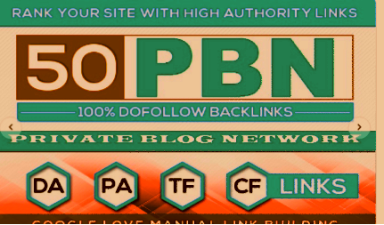 Create 50+PBN Blog Network with niche related articles and Indexing