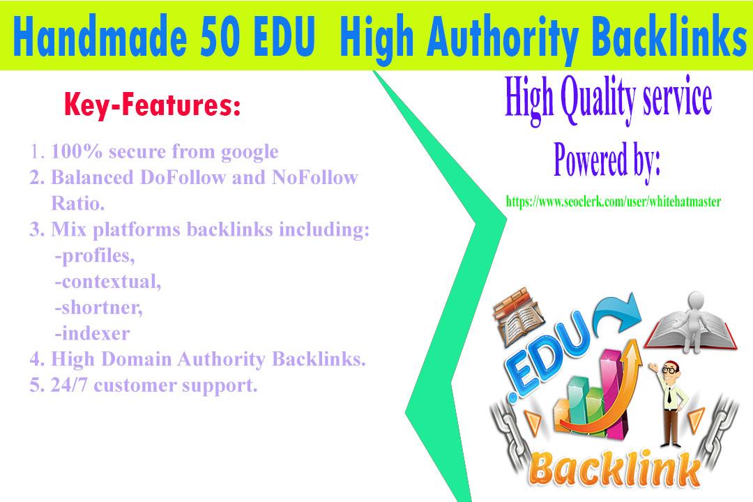 Buy Handmade 50 EDU High Authority Backlinks