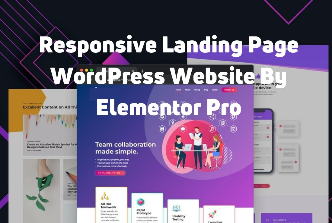 I will create amazing WordPress landing page website with elementor