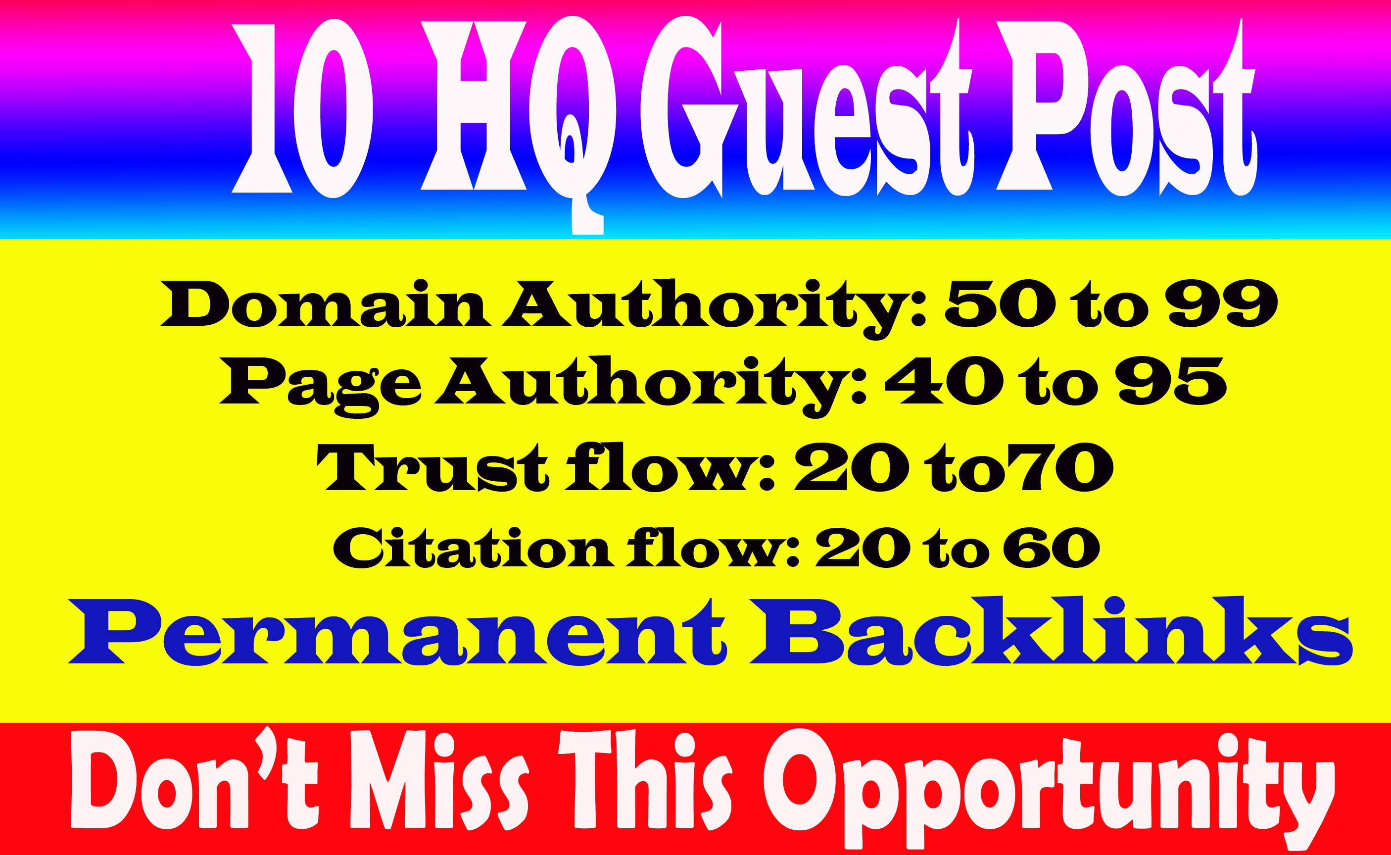 Write & Publish 10 Guest Post On High DA 70+ Sites with permanent strong backlink