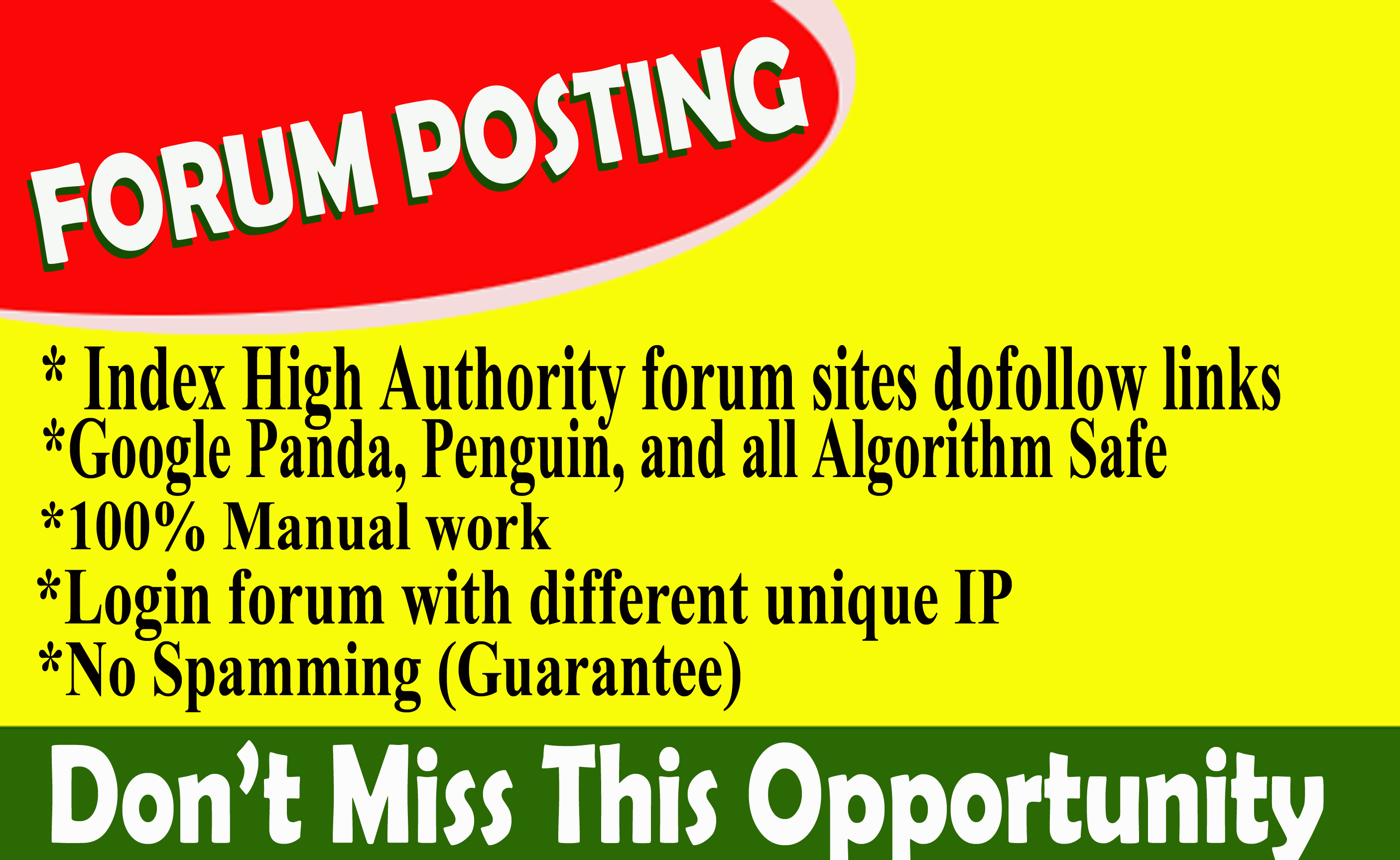 Provide 40+ forum posting dof0llow backlinks on high DA30+, PA+ blog