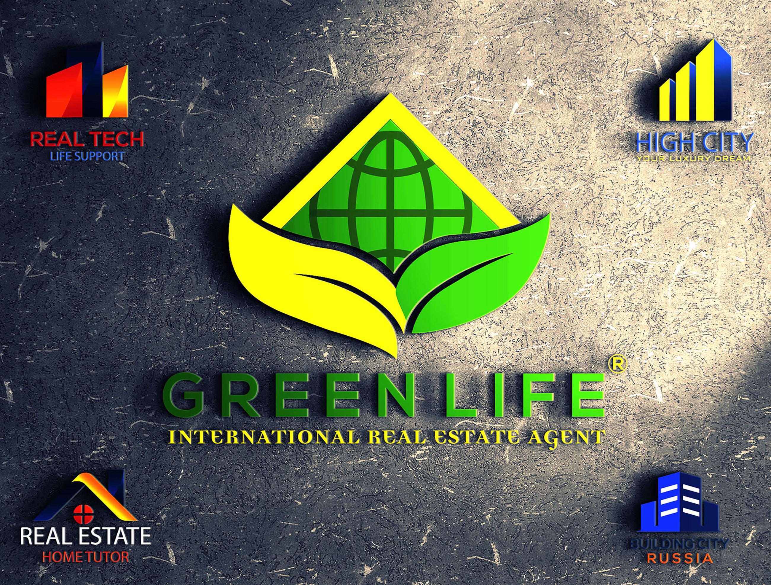 Do real estate logo design, construction, property, agency, home based logo design