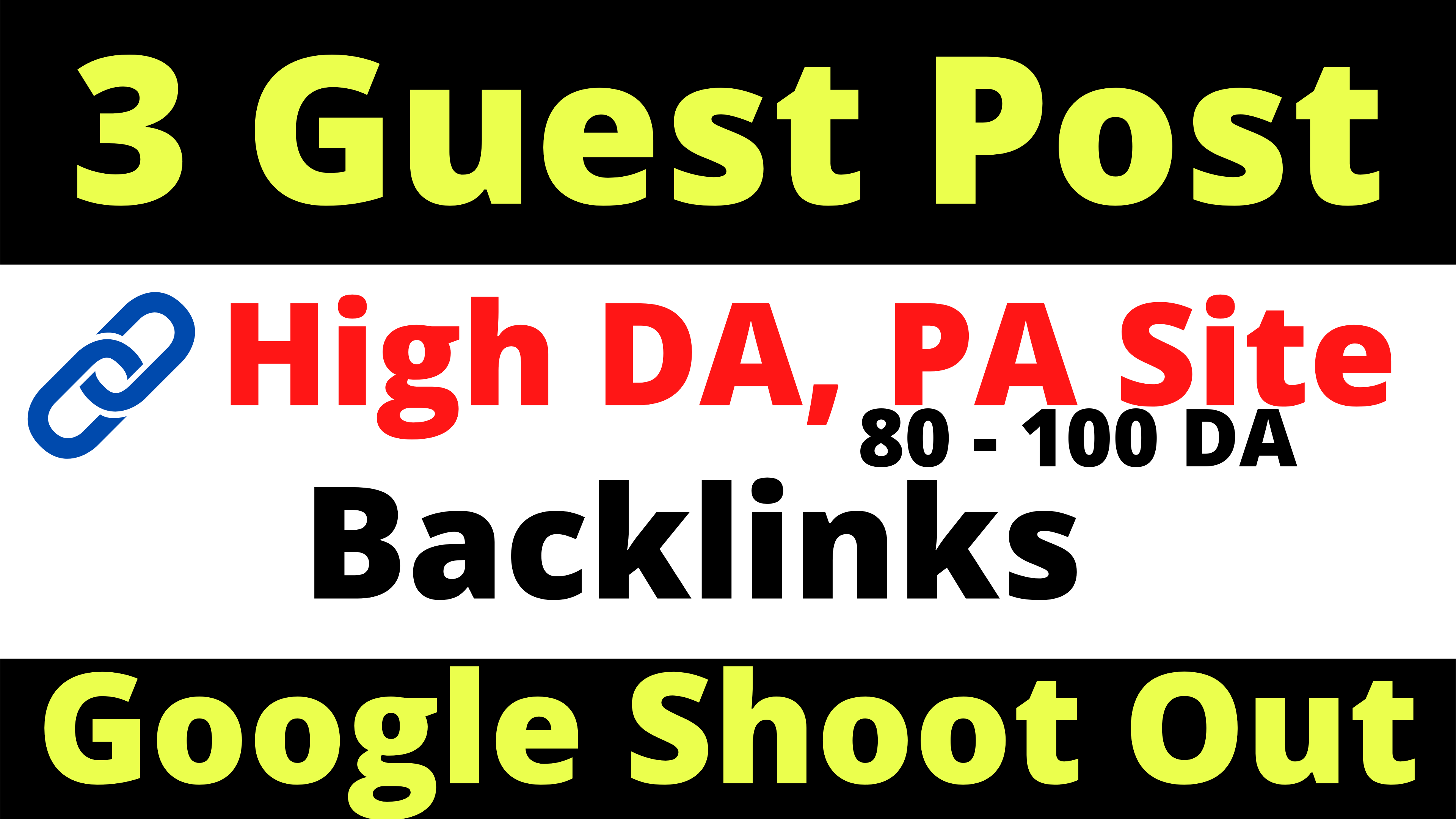 3 Guest post Backlinks High Domain Authority Site Google Ranking