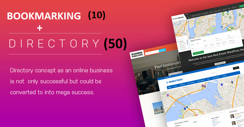 50 directory submission + 10 BOOKMARKING manually done with in 24 hours for your website