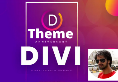 Install Divi theme, import divi layout and make your Website