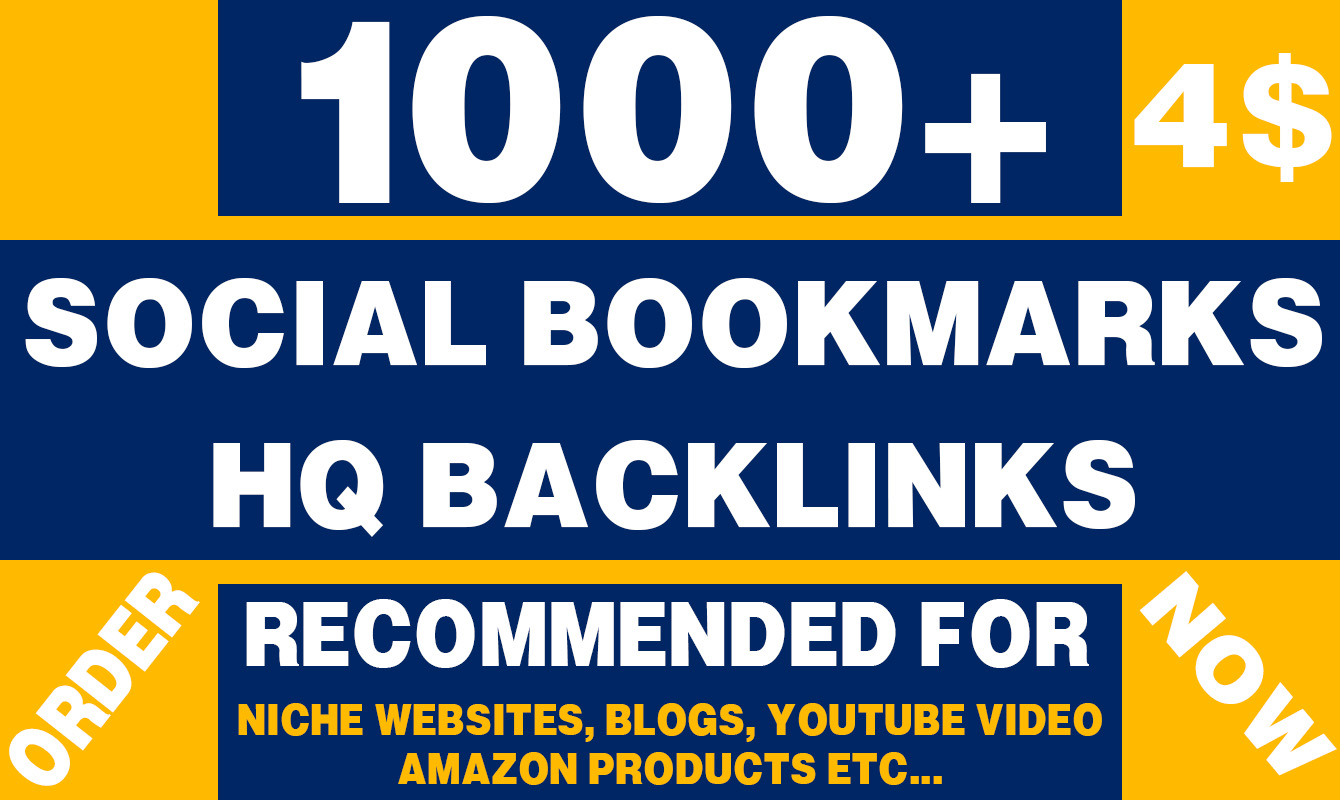 Provide 1000 HQ Social Bookmarking back-links for your site ranking improvement
