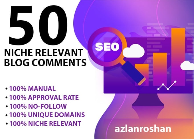 I will create 50 niche relevant blog comments backlinks